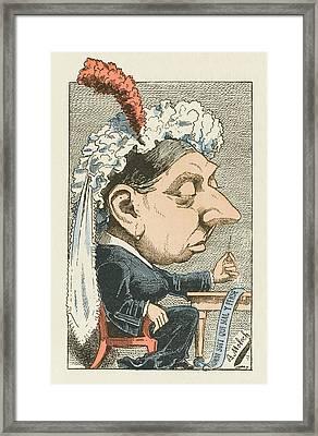 Queen Victoria  Cartoon Framed Print