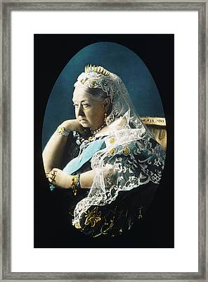 Queen Victoria  Circa 1897 Framed Print