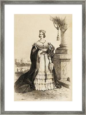 Queen Victoria  Illustration From 1852 Framed Print
