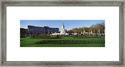 Queen Victoria Memorial At Buckingham Framed Print by Panoramic Images