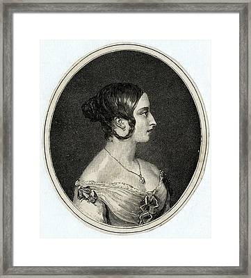 Queen Victoria  Profile In 1841 Framed Print