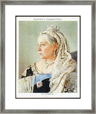 Queen Victoria  Reigned 1837 - 1901 Framed Print