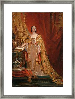 Queen Victoria Taking The Coronation Oath, June 28 Framed Print by Litz Collection