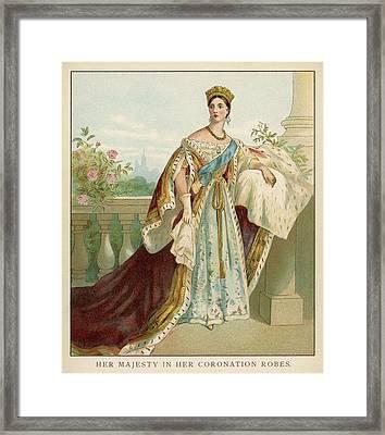 Queen Victoria Wearing Her Coronation Framed Print