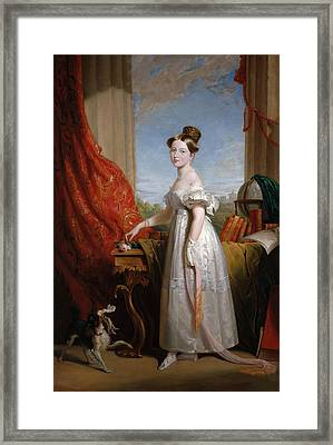 Queen Victoria When Princess Framed Print by George Hayter