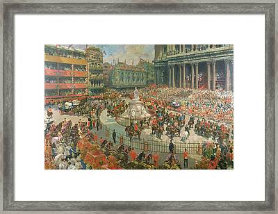 Queen Victorias Diamond Jubilee, 1897 Framed Print by G.S. Amato
