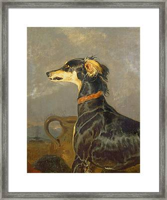 Queen Victorias Favourite Dog, Eos Framed Print by Sir Edwin Landseer