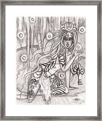 Queen W' Alatien Framed Print by Coriander  Shea