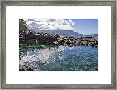 Queen's Bath Tide Pool Framed Print