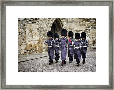Queens Guard Framed Print by Heather Applegate