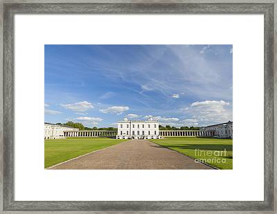 Queen's House In Greenwich Framed Print by Roberto Morgenthaler