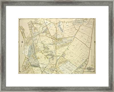 Queens, Vol. 1, Double Page Plate No. 18 Part Of Ward 4 Framed Print by Litz Collection