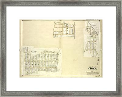 Queens, Vol. 1, Double Page Plate No. 22 Part Of Ward 4 Map Framed Print by Litz Collection