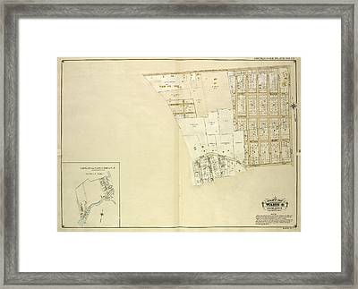Queens, Vol. 1, Double Page Plate No. 23 Part Of Ward 4 Framed Print