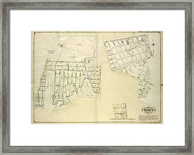 Queens, Vol. 1, Double Page Plate No. 25 Part Of Ward 4 Framed Print by Litz Collection