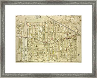 Queens, Vol. 1, Double Page Plate No. 4 Part Of Ward 4 Framed Print by Litz Collection