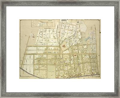 Queens, Vol. 1, Double Page Plate No. 9 Sub Planmap Bounded Framed Print