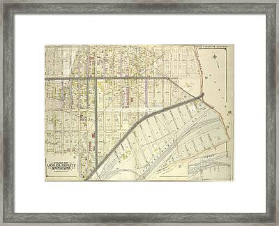 Queens, Vol. 2, Double Page No. 6 Part Of Long Island City Framed Print