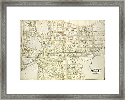 Queens, Vol. 2, Double Page Plate No. 23 Part Of Ward Two Framed Print