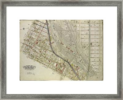 Queens, Vol. 2, Double Page Plate No. 3 Part Of Long Island Framed Print