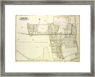 Queens, Vol. 2, Double Page Plate No. 39 Part Of Ward Two Framed Print