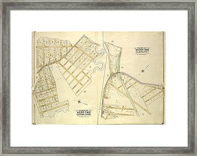 Queens, Vol. 2, Part Of Ward Two Corona Park Map Bounded Framed Print