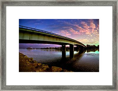 Framed Print featuring the photograph Queens Way Bridge by Joseph Hollingsworth