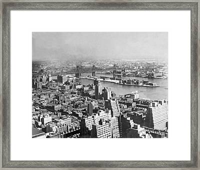 Queensboro And Welfare Island Framed Print by Underwood Archives