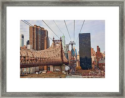 Queensboro Bridge Framed Print by June Marie Sobrito
