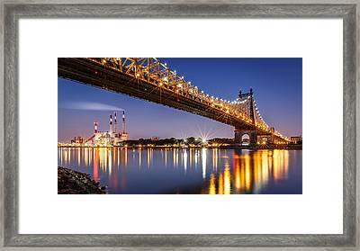 Queensboro Bridge Framed Print by Mihai Andritoiu