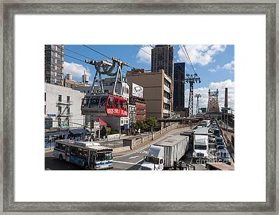 Queensboro Bridge Traffic I Framed Print by Clarence Holmes