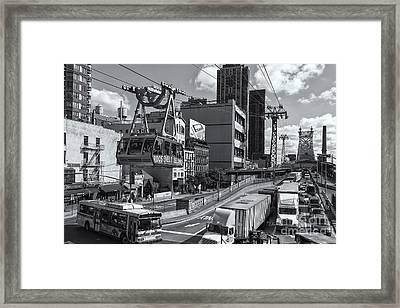 Queensboro Bridge Traffic II Framed Print by Clarence Holmes