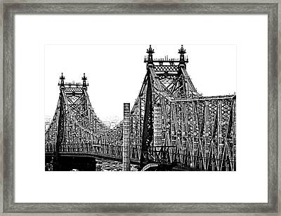 Queensborough Or 59th Street Bridge Framed Print by Steve Archbold