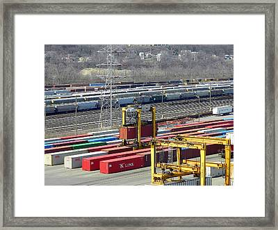 Queensgate Yard Cincinnati Ohio Framed Print by Kathy Barney