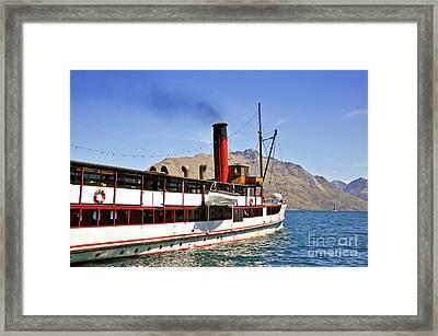 Queenstown Steamboat Framed Print