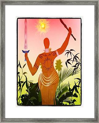Queenwarrior Framed Print