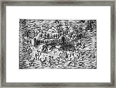 Queiros Voyages, 1613 Framed Print