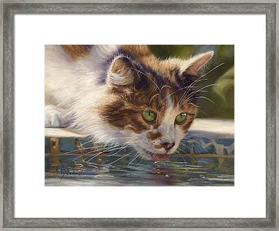 Quenching Her Thirst Framed Print by Lucie Bilodeau
