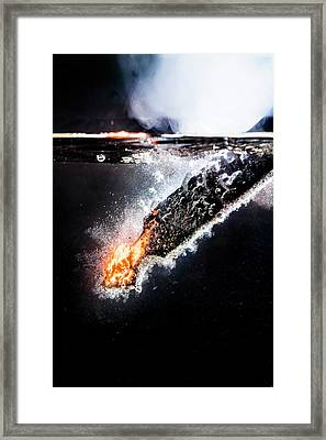 Quenching Metal Framed Print by Aberration Films Ltd