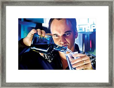 Quentin Tarantino Artwork 1 Framed Print by Sheraz A