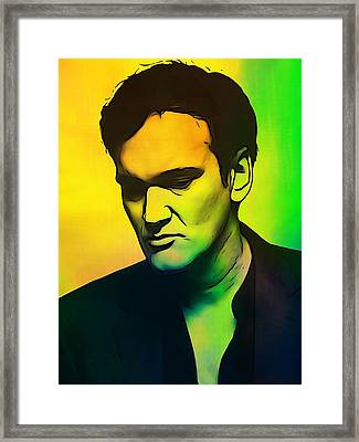 Quentin Tarantino  Framed Print by Dan Sproul