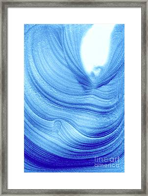 Query Blue 2 Framed Print