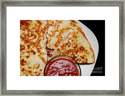Quesadilla Framed Print by Andee Design