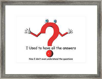 Question Mark Framed Print by Carol & Mike Werner