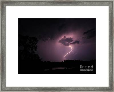 Questioning The Thunderstorm Framed Print by Reid Callaway