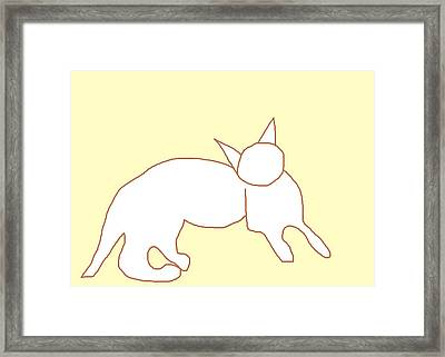 Questioning Theo Framed Print by Anita Dale Livaditis