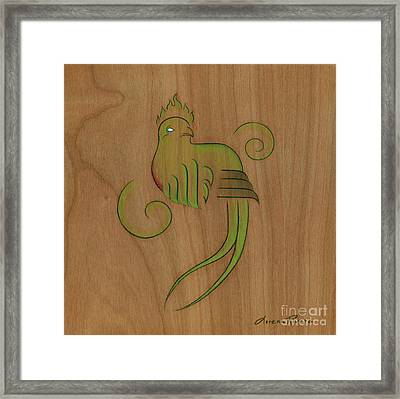 Quetzal II Framed Print by Lorena Rivera