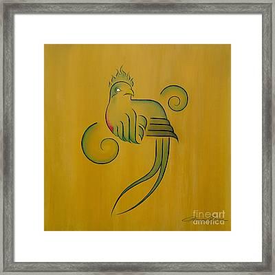 Quetzal Framed Print by Lorena Rivera