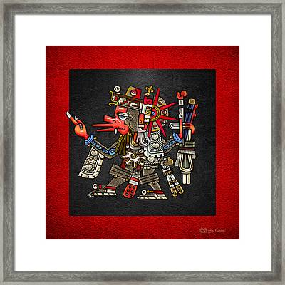 Quetzalcoatl In Human Warrior Form - Codex Borgia Framed Print by Serge Averbukh