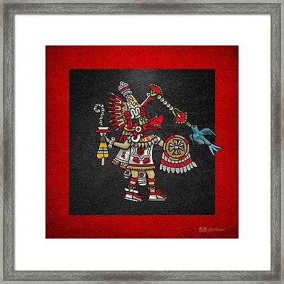 Quetzalcoatl In Human Warrior Form - Codex Magliabechiano Framed Print by Serge Averbukh